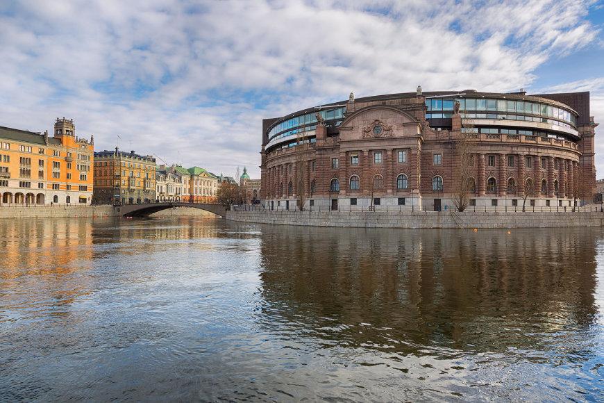 Švedijos parlamento rūmai Stokholme.