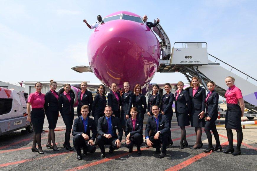 """""""Wizz Air"""" Londono Lutono oro uoste atidarė pirmąją savo bazę Didžiojoje Britanijoje"""