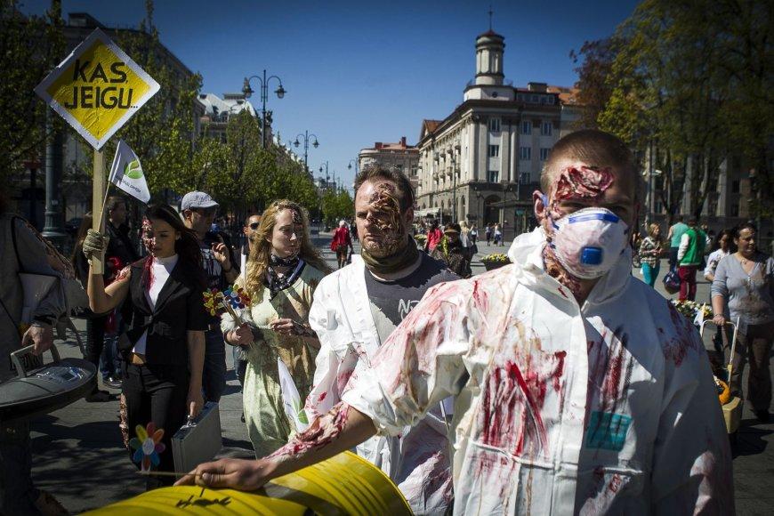 Černobylio katastrofos metinės paminėtos zombių eitynėmis.