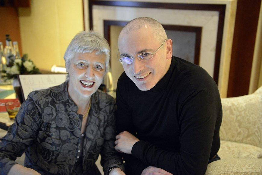 Michailas Chodorkovskis su Vokietijos politike Marieluise Beck