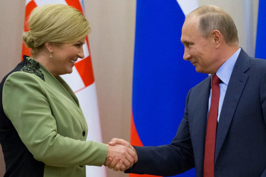 Kolinda Grabar-Kitarovič ir Vladimiras Putinas