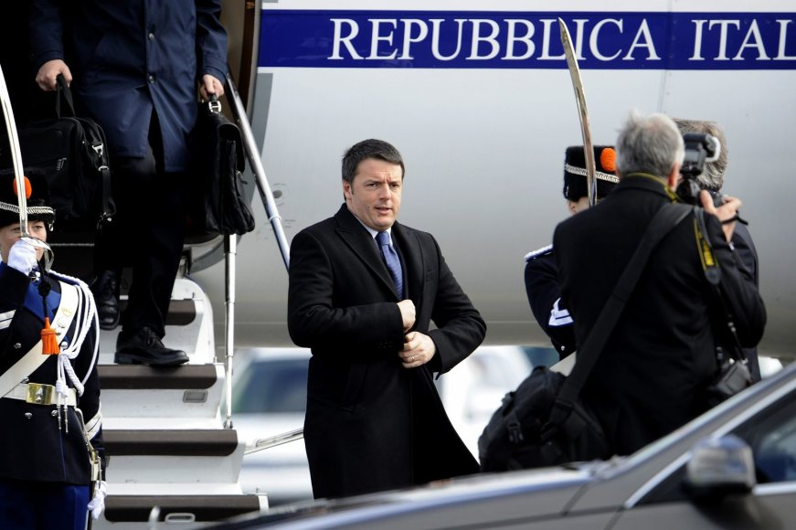 Italijos ministras pirmininkas Matteo Renzi