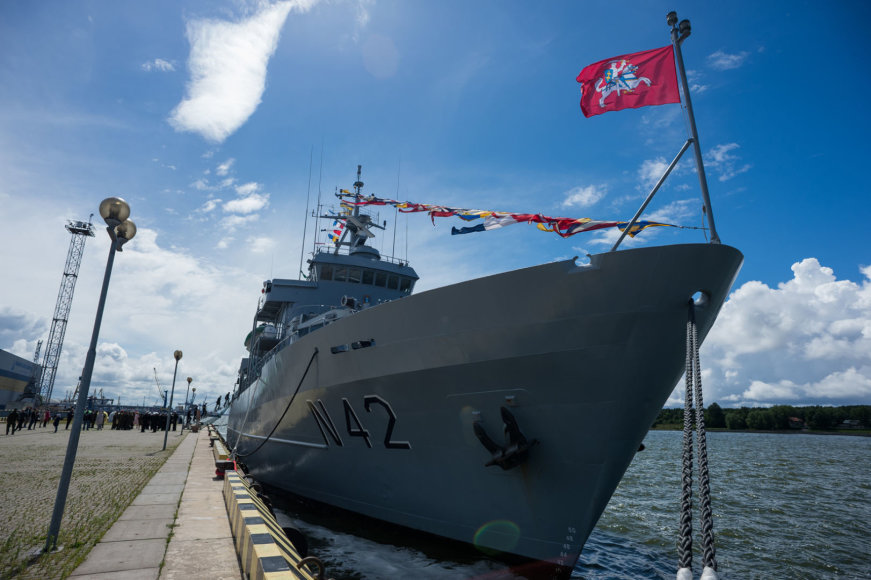 Lietuvos karinės jūrų pajėgos Klaipėdoje švenčia savo 25-metį