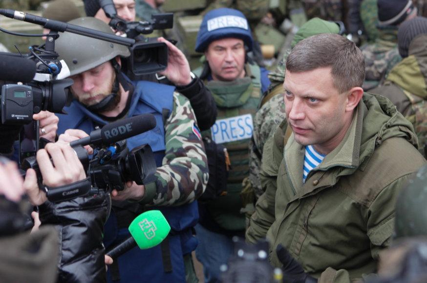 Donecko teroristų vadeiva Aleksandras Zacharčenka