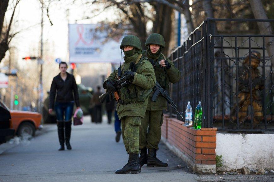 Rusijos kariai Simferopolyje