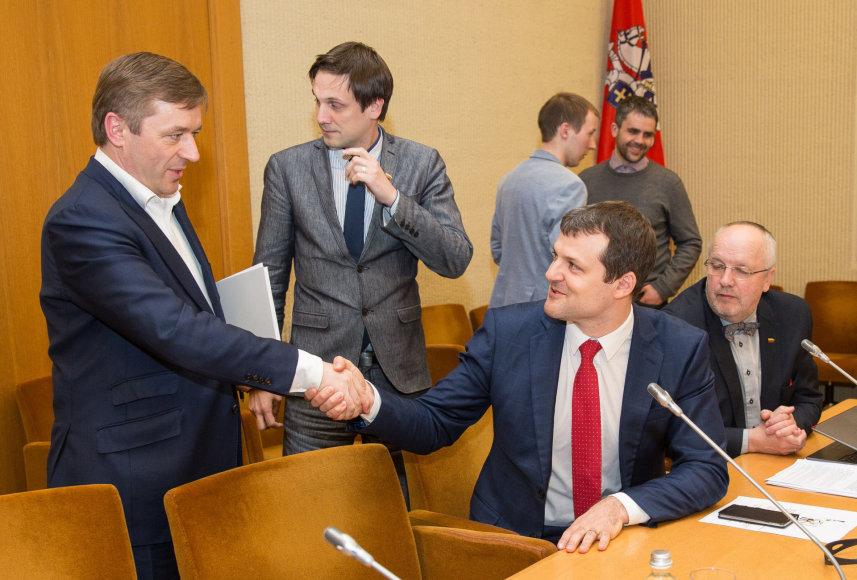 Ramūnas Karbauskis ir Gintautas Paluckas