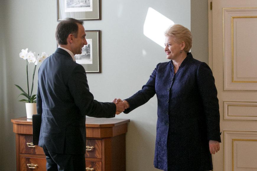 Dalia Grybauskaitė ir Rokas Masiulis