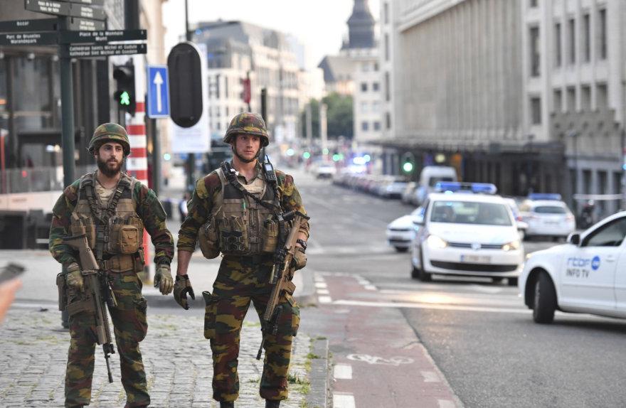 Policija ir kariuomenė Briuselio gatvėse