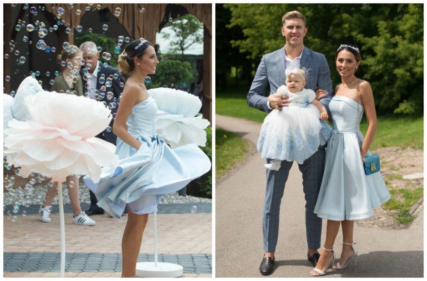 Gabrielės Rutkauskienės-Vashos ir Ronaldo Rutkausko dukros Adrijos krikštynos