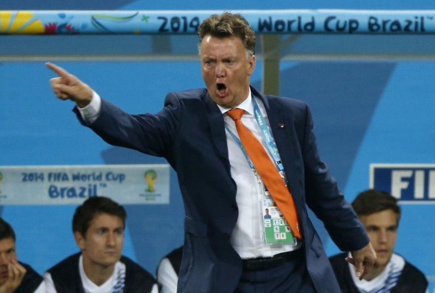 Nyderlandų futbolo rinktinės treneris Louisas van Gaalas