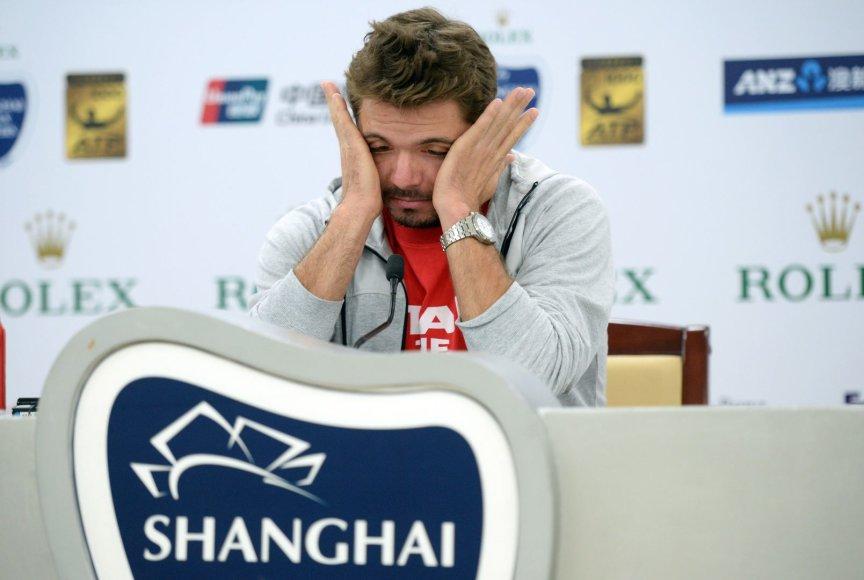 Stanislasas Wawrinka antrame turnyre iš eilės pralaimėjo pirmą kovą