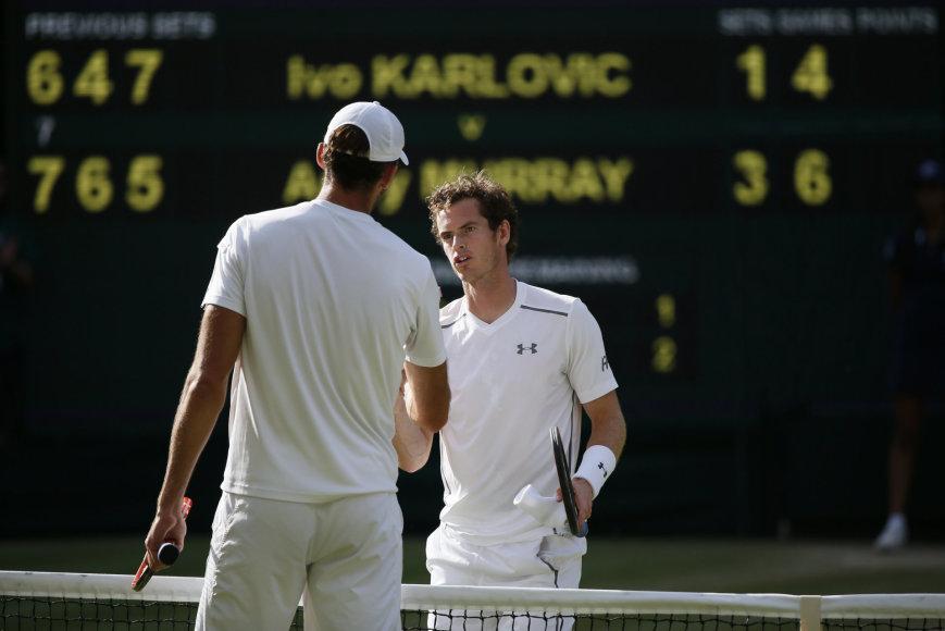 Andy Murray ir Ivo Karlovičius