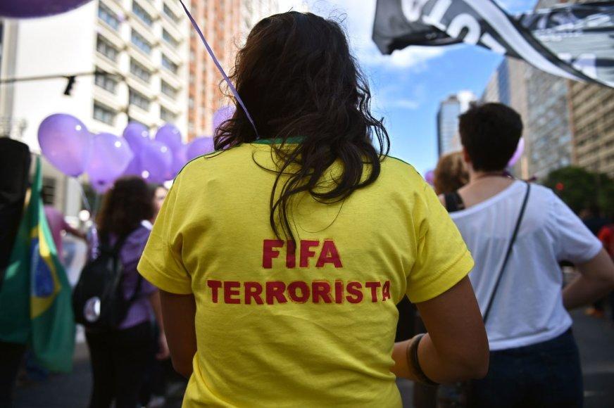 Protestuotoja Brazilijoje