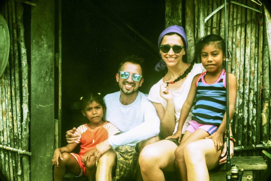Linas ir Irma Adomaičiai Centrinėje Amerikoje