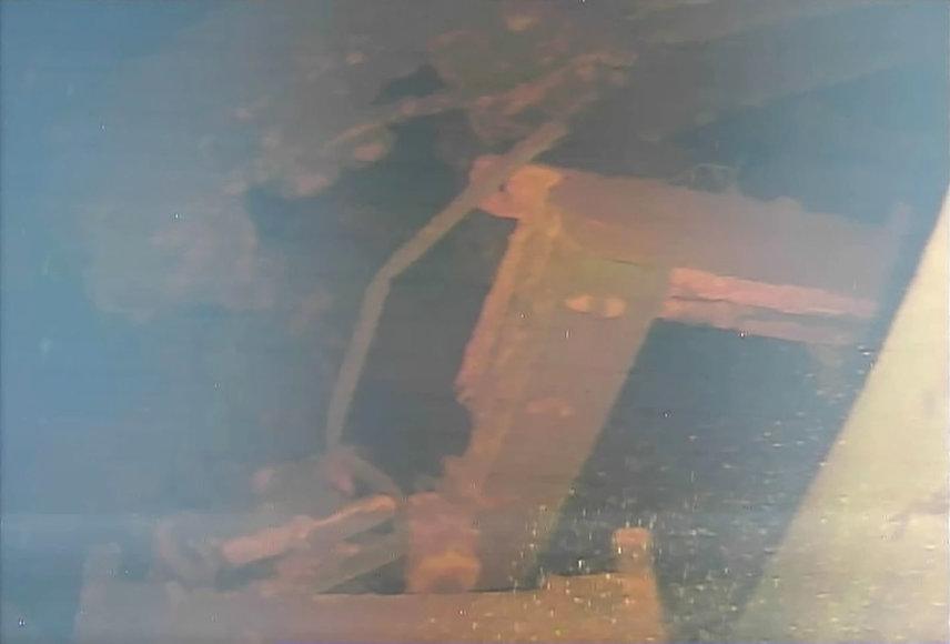 Vaizdas, kurį robotas užfiksavo užlietame Fukušimos atominės elektrinės reaktoriuje