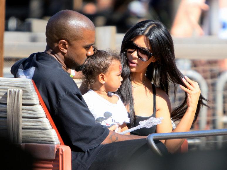 Kanye Westas, Kim Kardashian ir North West