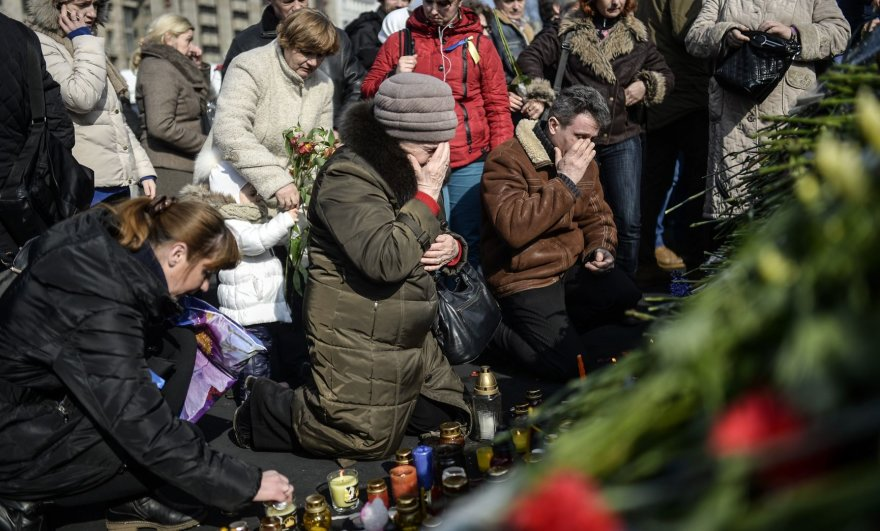 Žuvusiųjų pagerbimas Kijeve