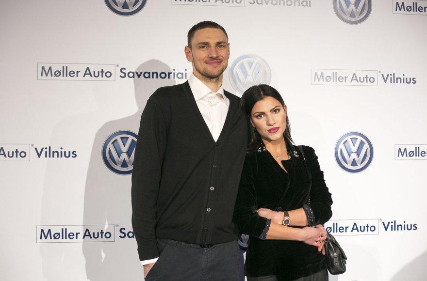 Mindaugas Katelynas su žmona Ugne