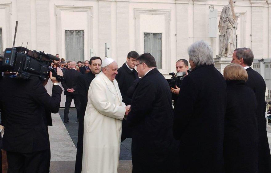 Linas Linkevičius su popiežiumi Pranciškumi
