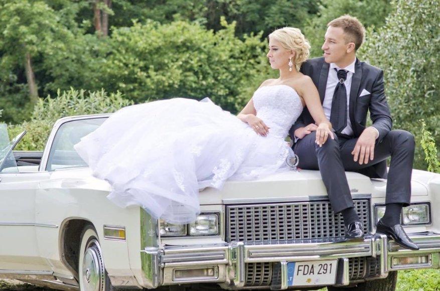 Karolis Akulavičius su žmona Ingrida