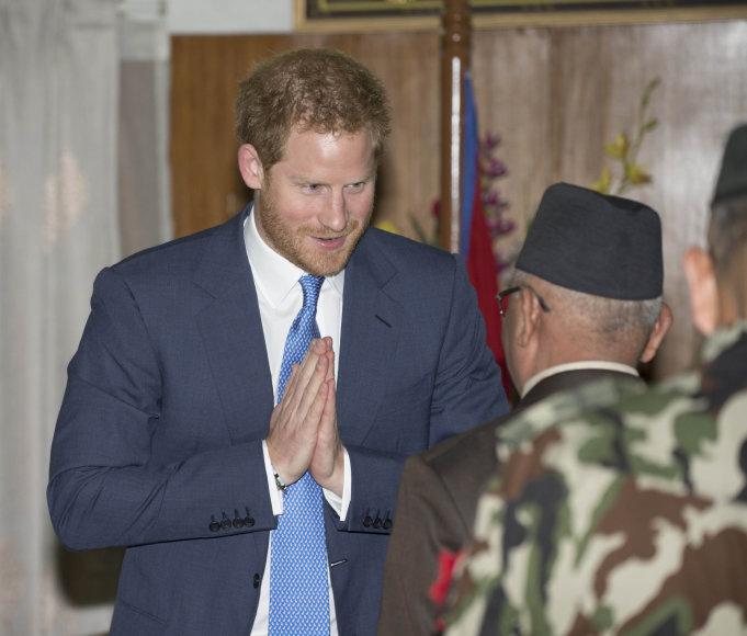 Princas Harry apsilankė Nepale