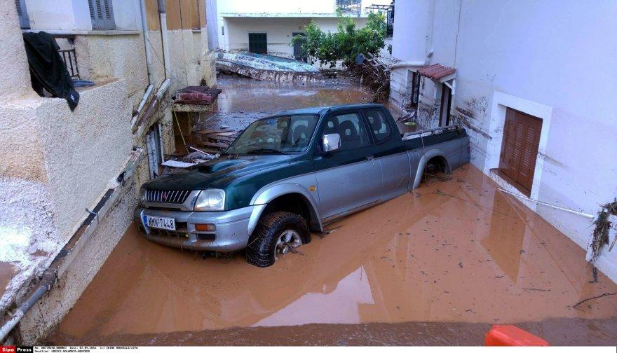 Potvynio pasekmės Graikijoje