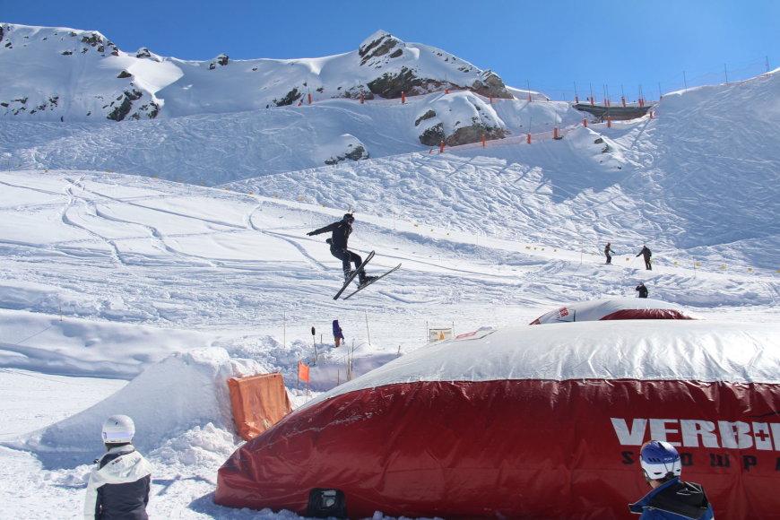 Slidinėjimas Verbieryje, Šveicarijos Alpėse