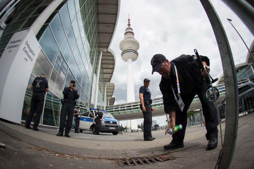 G-20 susitikimui Hamburge ruošiasi visos Vokietijos policija