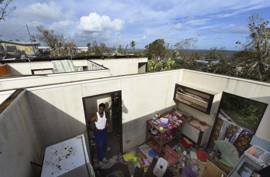 Stipraus ciklono padariniai Vanuatų salose