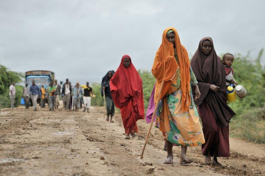 Afrikoje nuo smurto iš savo namų pabėgo šimtai tūkstančių žmonių