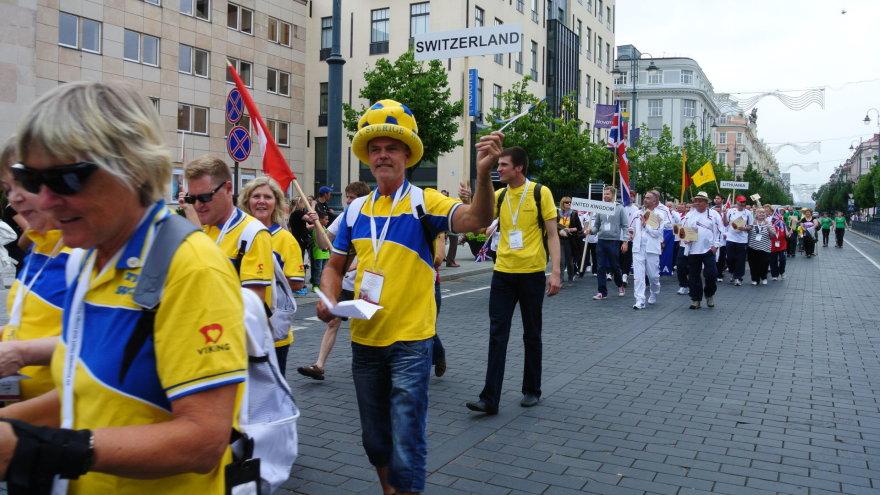 Europos žmonių su persodintais organais sporto žaidynių atidarymo ceremonija Vilniuje