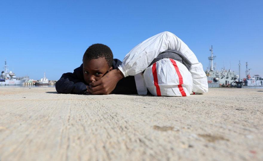 Migrantai ilsisi Libijos uoste