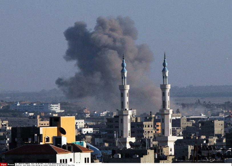 """Antskrydžiai Gazos ruože prieš teroristų grupuotę """"Hamas"""""""