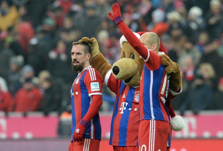 Franckas Ribery ir Arjenas Robbenas