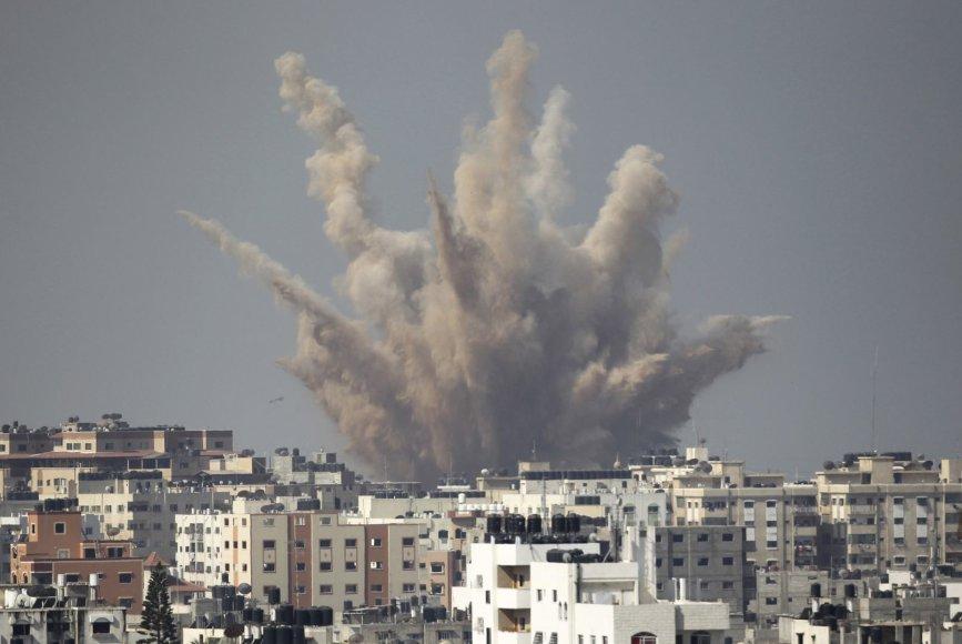 Sprogimas Gazos Ruože