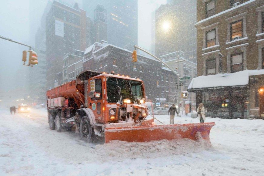 "AFP/""Scanpix"" nuotr./Pūga Niujorke"