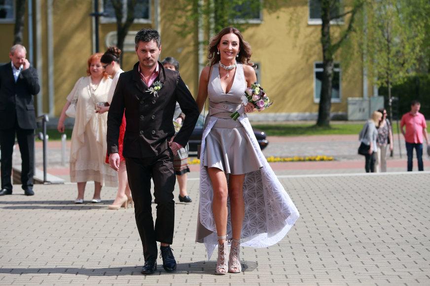 Aliaus Koroliovo/15min nuotr./Gerdos Stiklickienės ir Andriaus Žemaičio vestuvės