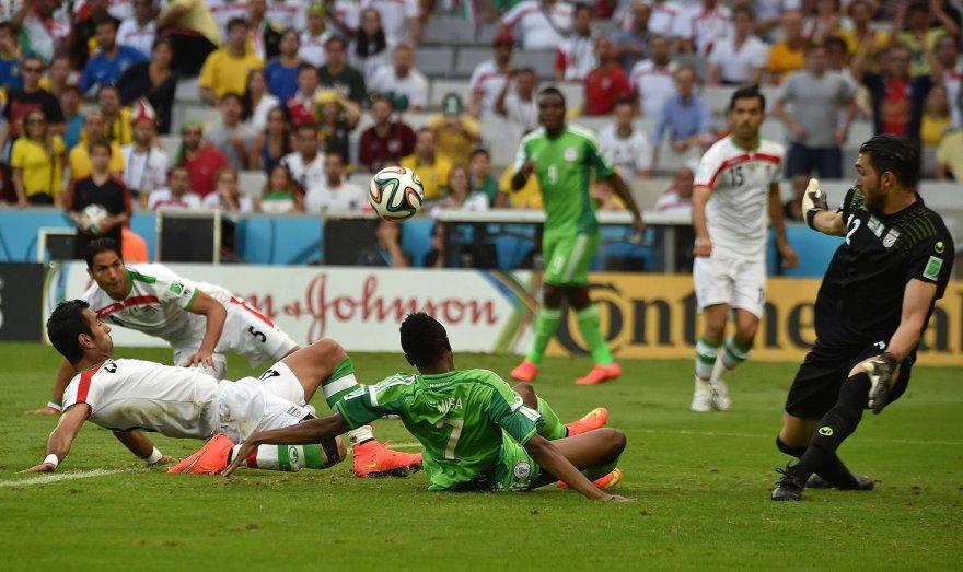 Nigerijos ir Irano futbolo rinktinių rungtynės Brazilijoje