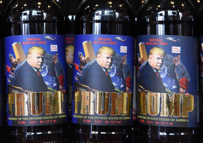 Pristatytas ukrainiečių pagamintas D.Trumpo alus