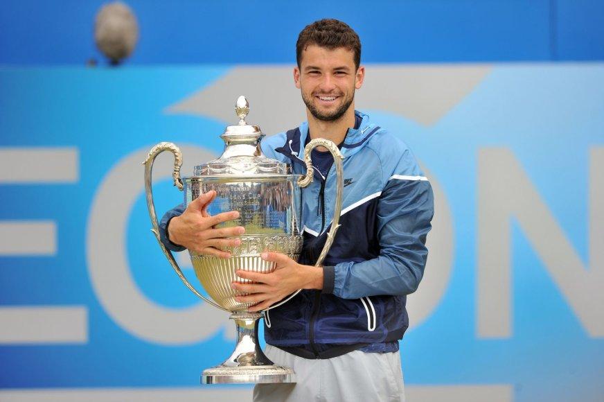 Grigoras Dimitrovas laimėjo pirmą turnyrą ant žolės