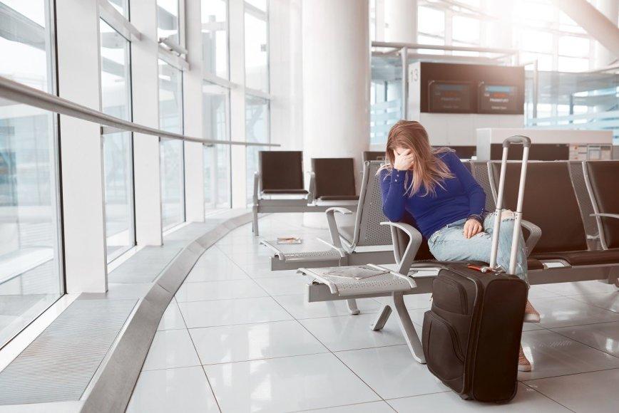 Oro linijų palikti keleiviai