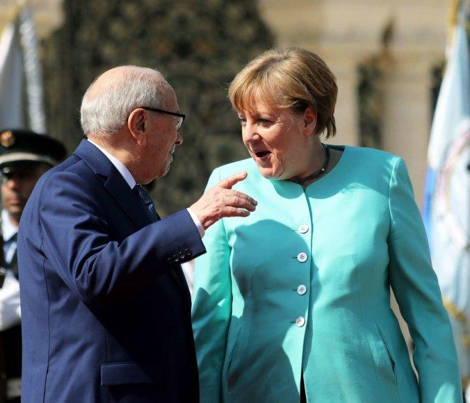 Beji Caidas Essebsi ir Angela Merkel