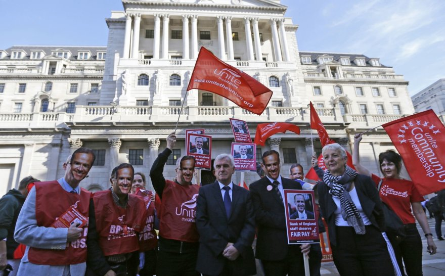 Anglijos banko darbuotojų streikas