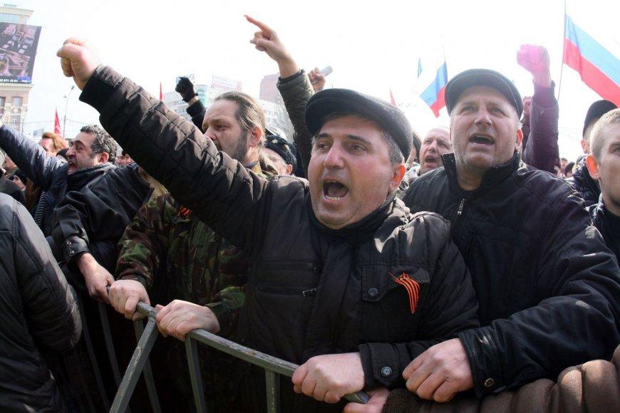 V.Putino gerbėjai Donecke