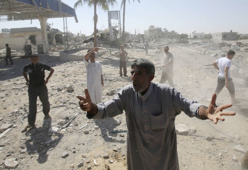 Gazos Ruožas po Izraelio atakų