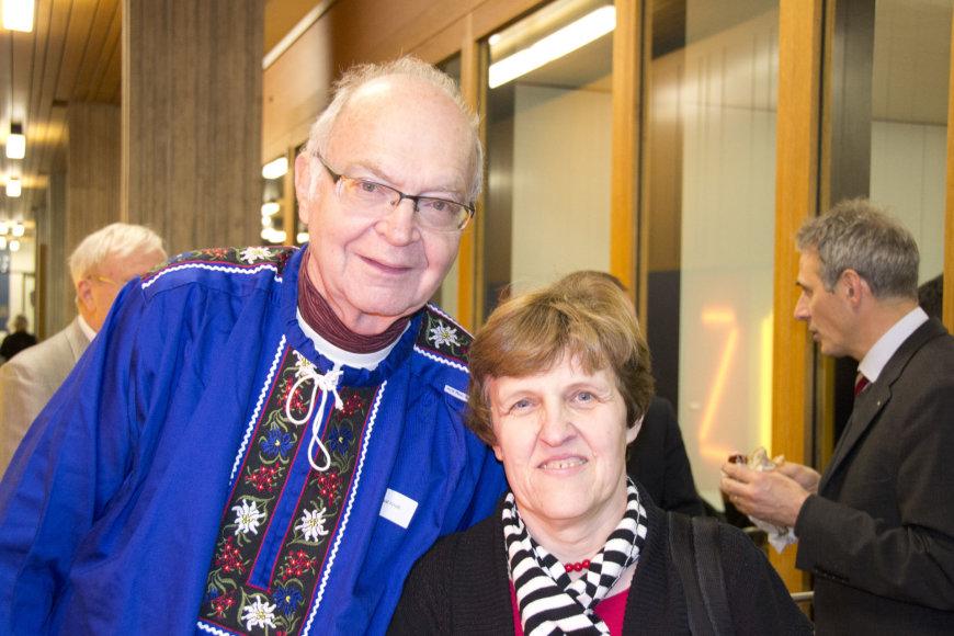 Asm. archyv. nuotr.: Valentina Dagienė su pasaulio programavimo įžymybe Donaldu Knutu