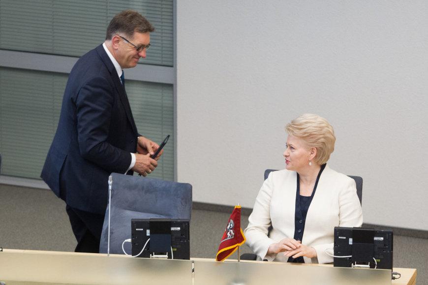 Algirdas Butkevičius ir Lietuvos prezidentė Dalia Grybauskaitė