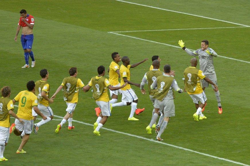 Brazilijos pergalė prieš Čilę