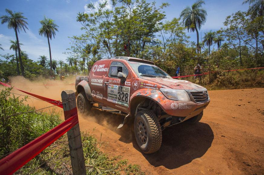Pirmasis Dakaro greičio ruožas iš Asunsjono į Rezistenciją