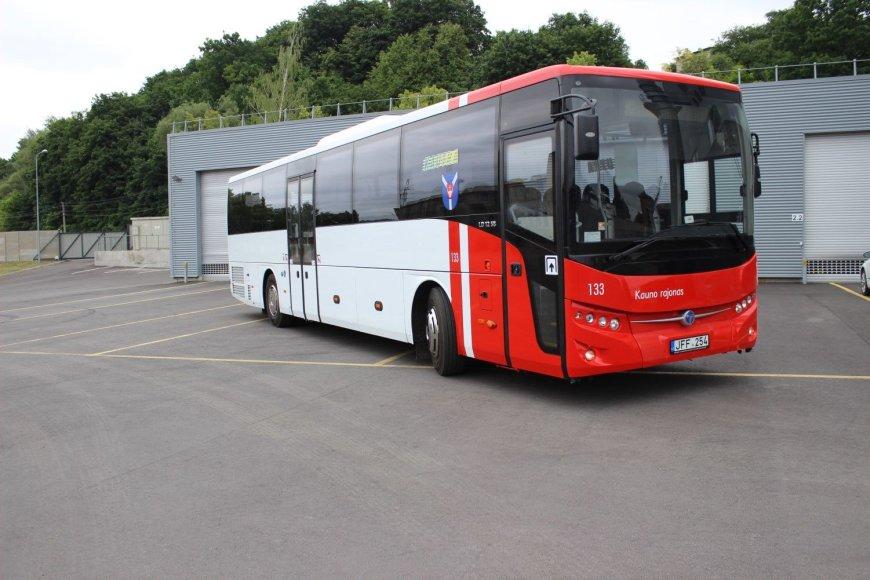 Kauno rajono savivaldybės įsigyti nauji autobusai